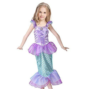 Kids Girls Princess Mermaid Dress Party Costume