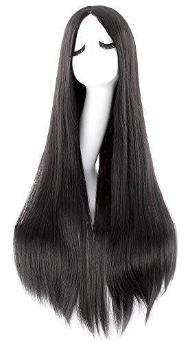 "35"" Women Wig Long Hair Black"