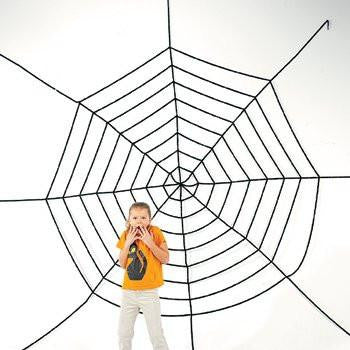 JUMBO 11FT PLUS HALLOWEEN CREEPY SPIDER WEB!