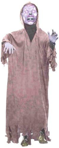 Life Size Latex Zombie Hooded Halloween Prop with Stand