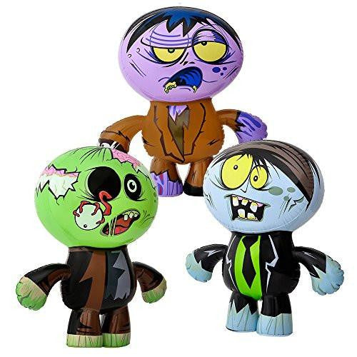 "Set of 3 Crazy Inflatable Zombies 24"" Party Decor"
