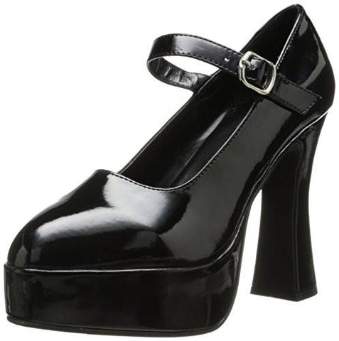 Black Platform Pump Mary Jane Shoes