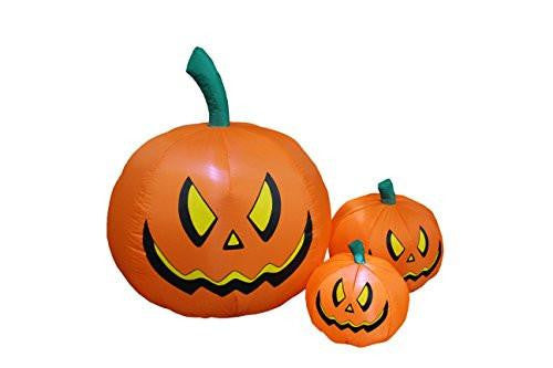 4 Foot Tall Halloween Inflatable Three Pumpkins