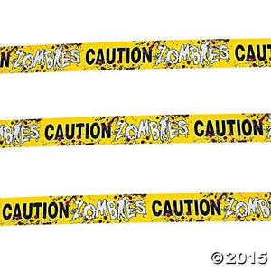 Caution Zombies Party Tape Roll, 20'