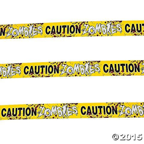 Image of Caution Zombies Party Tape Roll, 20'