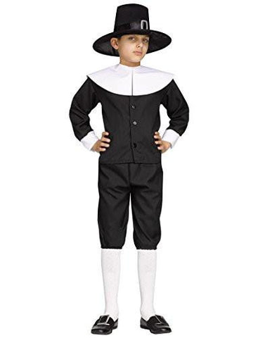 Image of boys pilgrim costume