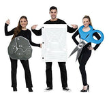 Adult Rock, Paper, Scissors Halloween Costume Trio Set