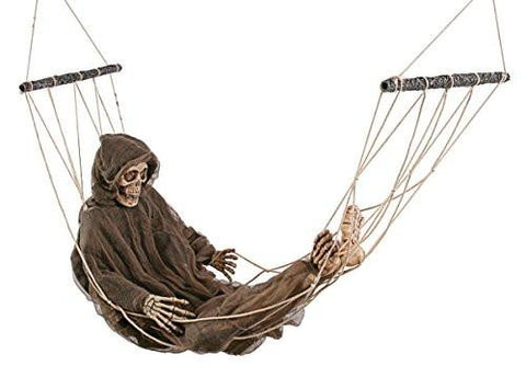 Grim Reaper Hammock Halloween Yard Decoration