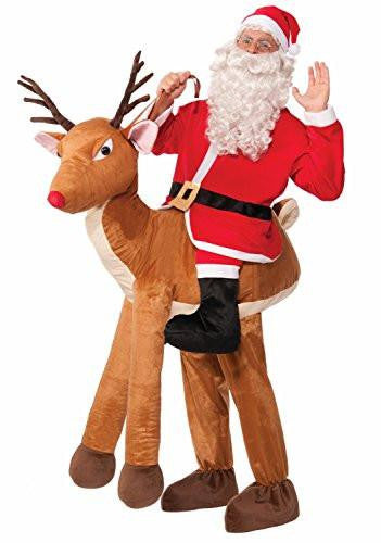 Santa with Rudolph Reindeer Adult Costume