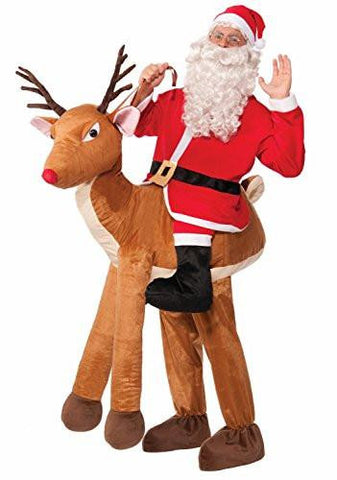 Image of Santa with Rudolph Reindeer Adult Costume