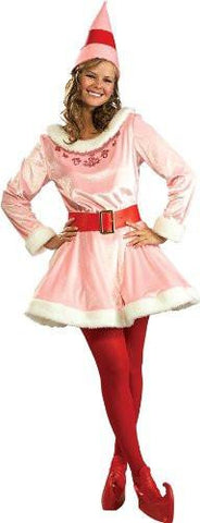Image of Pink and Red Elf Costume