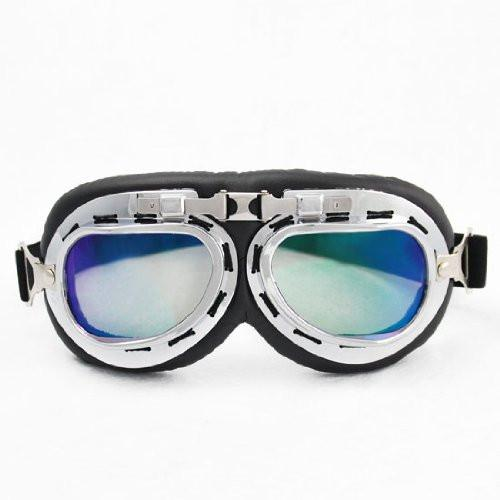 Steampunk Cyber Goth Style Aviator Pilot Tinted Lens UV Goggles Eyewear Sunglasses