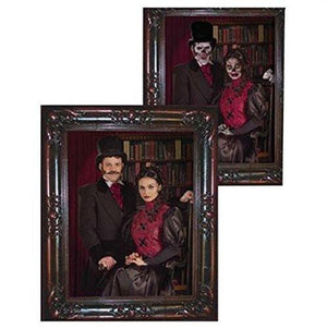 Haunted Lenticular Couple Moving Picture Frame, 12 x 13