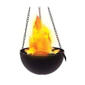 Hanging Cauldron With Flame Light