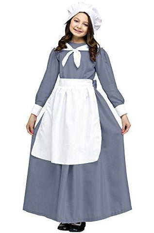 Image of Colonial Pilgrim Girl Costume