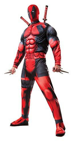 Marvel Universe Muscle Chest Deadpool Men's Cosplay Costume