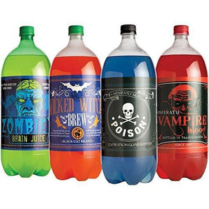 Halloween Glow in the Dark Soda Bottle Labels