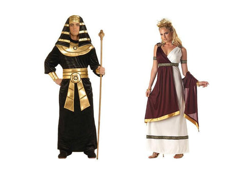 Women's Roman Empress & Men's Pharaoh Couples Costume