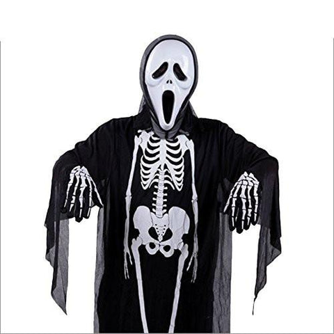 Halloween Props Adults Cape Costume Deluxe Cloak Skeleton
