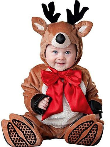 Baby's Reindeer with Red Bow Costume