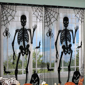 Skeleton Bones Window Drop Panel 2 Piece