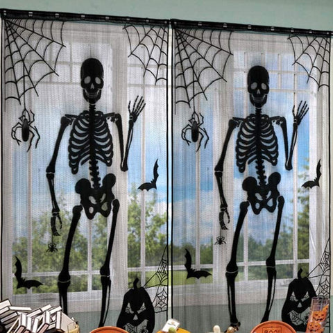 Image of Skeleton Bones Window Drop Panel 2 Piece