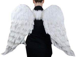 Adult Angel Wing in White with Elastic Straps, 43 by 27-Inch