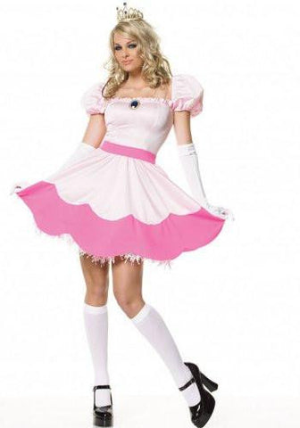 Image of Pink/White Princess Women's Costume