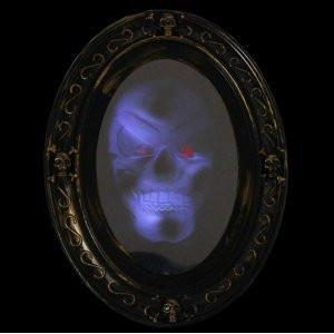 Motion Activated Haunted Mirror with Creepy Sound - Luminous Portrait Halloween Prop Decoration