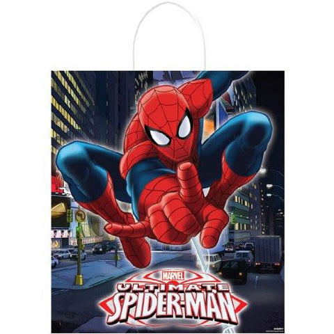 Image of Spider Man Trick or Treat Bag Halloween Party Supply