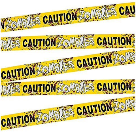 Caution Zombies Part Tape Roll, 20'