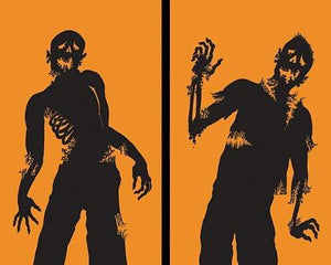 "Posters Ghoulies Silhouettes Halloween Window Decoration Two 34.5""x60\"" posters"