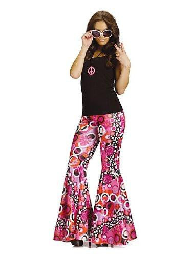 Flower Child Bell Bottoms Hippie Costume Pants Womens