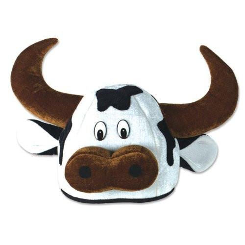 Plush Cow Head-Hat Party Accessory (1 count)