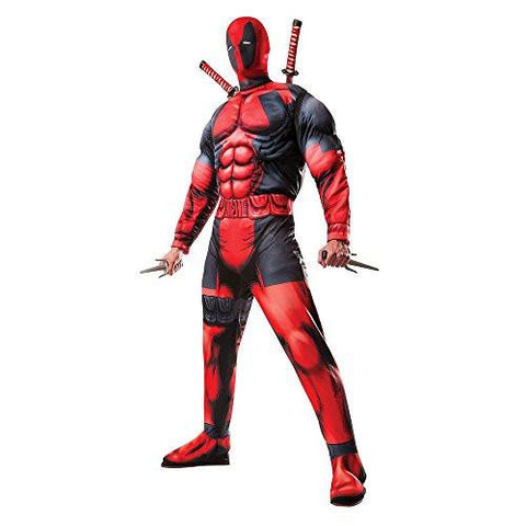 Image of Marvel Universe Muscle Chest Deadpool Men's Cosplay Costume