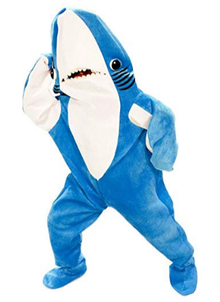Image of Adult Shark Mascot Fish Costume