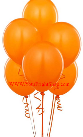 Orange Latex Balloons