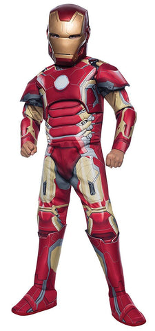 Image of Avengers Iron Man Muscle Boys Costume