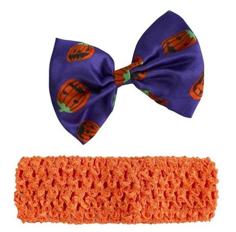 Baby Girls' 4PCS 1st Halloween Hat Orange Costume