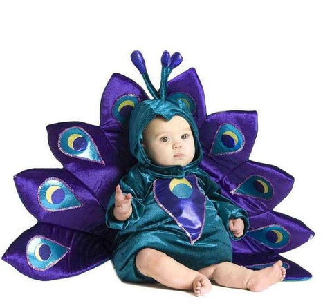 Image of Baby & Toddler Peacock Halloween Costume