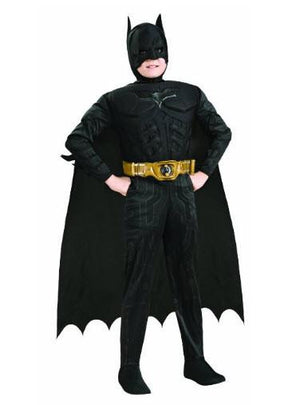 Batman Dark Knight Rises Child's Deluxe Muscle Chest Batman Costume