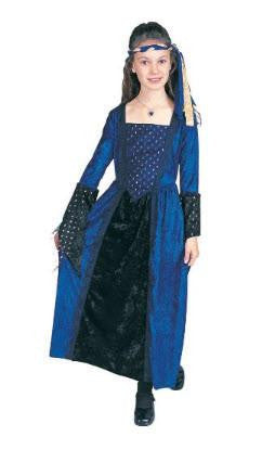 Blue Renaissance Girls Costume