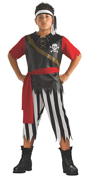 Boys Pirate Skull Kids Costume