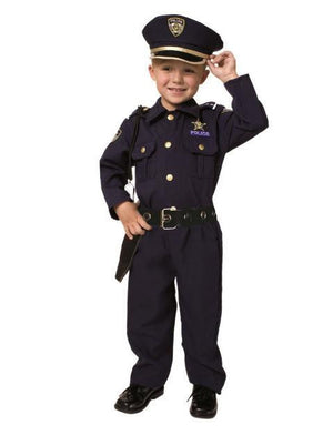 Boys Police Dress Up Costume Set