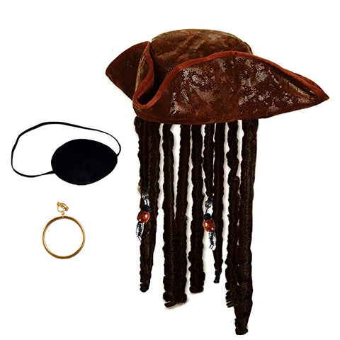 Caribbean Pirate Hat Set