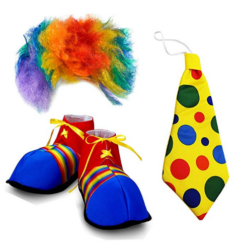 Clown Costume Accessories Set