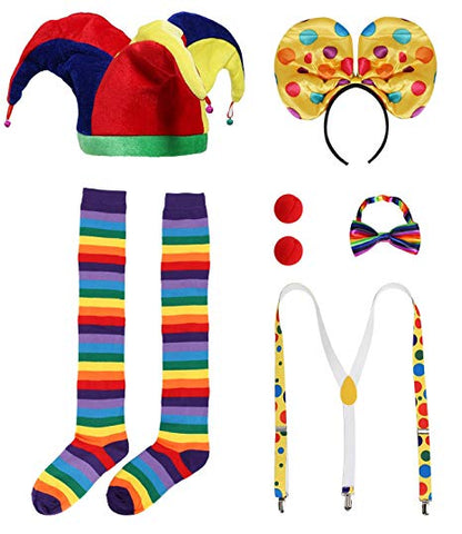 Clown Costume Accessory Set