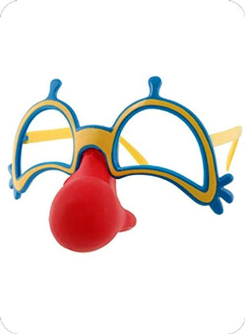 Clown Nose Glasses Set