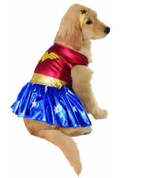 Dog Wonder Women Heroes Pet Costume
