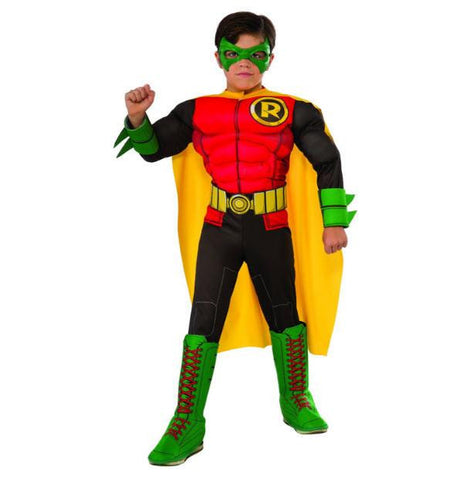 Image of Childs DC Superheroes Deluxe Robin Costume